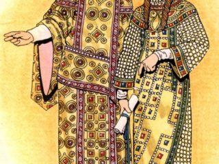 拜占庭君士坦丁大帝和等于使徒海伦的皇帝
