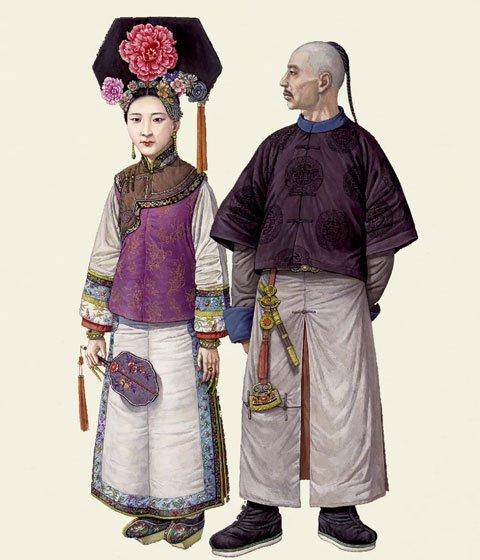 中国古代服饰时间表-汉服发展